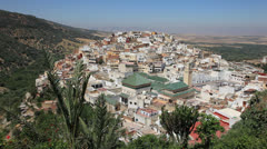 Town Moulay Idriss, Morocco Stock Footage
