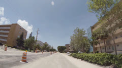 Residential street under construction Stock Footage