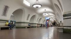 Subway station timelapse 4K Stock Footage