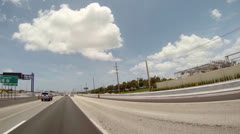 A car driving eastboung on highway 595 Stock Footage