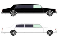 Stretch limo in two colors Piirros
