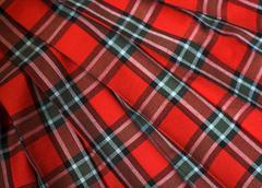 Checked fabric Stock Photos