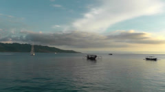 Indonesia,Evening view of the sea off the island of Gili Air. Stock Footage