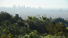 Los Angeles City with smog Stock Footage