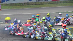 Go-Cart Racer Drives Fast Stock Footage