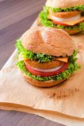 fishburgers - stock photo