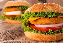big fishburgers - stock photo