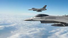 F-16 Fighter Jets Stock Footage