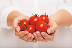 fresh tomatoes as an antioxidant - stock photo