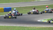 Stock Video Footage of Go-Cart Racer Drives Fast