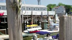 Rockport, MA Harbor Stock Footage