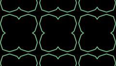 Kaleidoscopic green geometric Stock Footage
