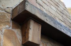 wooden ledge - stock photo