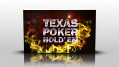 17 texas holdem red and greenscreen Stock Footage