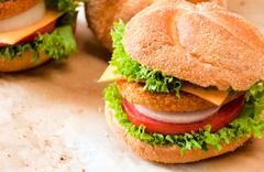 burger time - stock photo