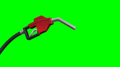 Gas pump nozzle green screen Stock Footage