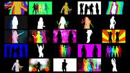 Shadow dancers compilation Stock Illustration