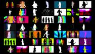 Shadow dancers compilation Stock Illustration