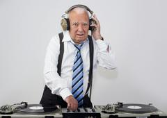 Grandpa dj Stock Photos