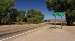 Area 51 ET Highway Sign 03 Nevada USA - stock footage