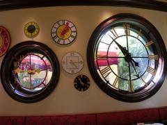 window through time - stock photo
