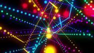 Stock Video Footage of Disco glow dotes