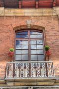 Colonial style balcony Stock Photos