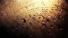 Rain Drops On A Window 1, Color Corrected Stock Footage