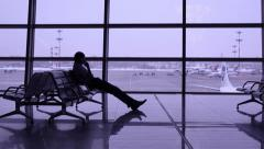Stock Video Footage of hall airport