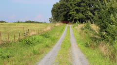 Old farm road Stock Footage