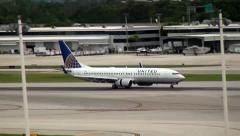 United Airlines Airplane Landing 3D Stock Footage
