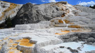 Stock Video Footage of Mammoth Hot Springs Wide Shot