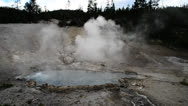 Stock Video Footage of Geyser In Yellowstone
