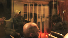 Riding the Subway, Color Corrected Stock Footage
