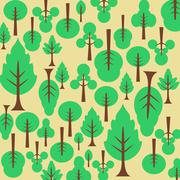Stock Illustration of background pattern tree. for the fabric.