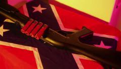 Dixie rebel flag shotgun south southern Stock Footage