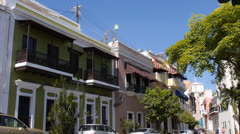 Caribbean colonial old houses Stock Footage