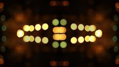 Panoramic movement defocused night lights Stock Footage
