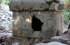 Ancient Grave of Olympos and Antalya - stock photo