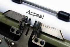 appeal text on typewriter - stock photo