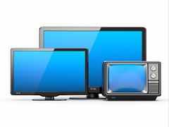 high definition tv. different screen sizes. - stock illustration
