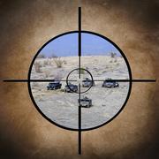 Sotilaskohteen ajoneuvoissa Kuvituskuvat