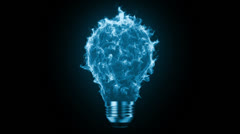 Flaming bulb - stock footage