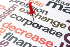 corporate decrease concept - stock photo