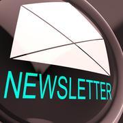 Sähköistä uutiskirjettä osoittaa kirje postitetaan sähköisesti maailmanlaajuises Piirros