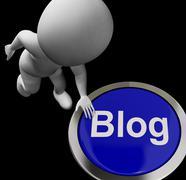 Blog button for blogger or blogging web sites Stock Illustration