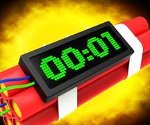 Stock Illustration of dynamite deadline time showing urgency or terrorism