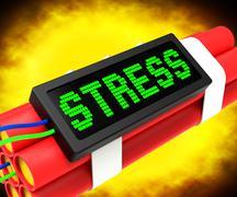 Stressiä dynamiitti osoittaa työpaineiden Piirros