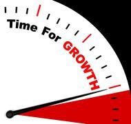 Aikaa kasvun viestin edustavat lisäämällä tai nousussa Piirros