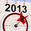 Stock Illustration of 2013 target means business plan forecast